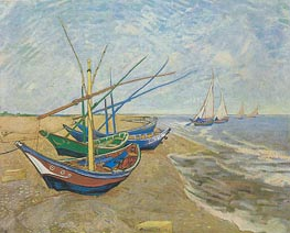 Vincent van Gogh | Fishing Boats on the Beach at Saintes-Maries, 1888 | Giclée Canvas Print