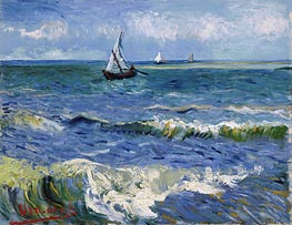Vincent van Gogh | Seascape at Saintes-Maries, 1888 | Giclée Canvas Print