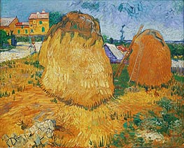 Vincent van Gogh | Haystacks in Provence, 1888 | Giclée Canvas Print