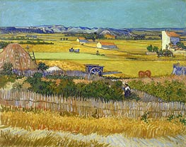 Vincent van Gogh | Harvest at La Crau with Montmajour | Giclée Canvas Print
