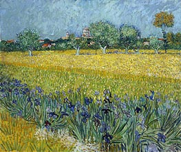 Vincent van Gogh | View of Arles with Irises in the Foreground | Giclée Canvas Print