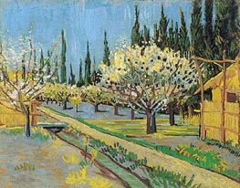 Vincent van Gogh | Orchard in Blossom, Bordered by Cypresses | Giclée Canvas Print