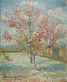 Vincent van Gogh   Pink Peach Tree in Blossom (Reminiscence of Mauve)   Giclée Canvas Print