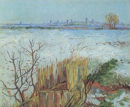 Vincent van Gogh | Snowy Landscape with Arles in the Background, 1888 | Giclée Canvas Print