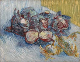 Vincent van Gogh | Still Life with Red Cabbages and Onions, 1887 | Giclée Canvas Print