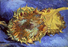 Vincent van Gogh | Two Cut Sunflowers, 1887 | Giclée Canvas Print
