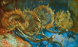 Vincent van Gogh | Four Cut Sunflowers, 1887 | Giclée Canvas Print