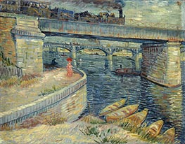 Vincent van Gogh | Bridges Across the Seine at Asnieres, 1887 | Giclée Canvas Print
