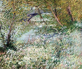 Vincent van Gogh | Banks of the Seine with Pont de Clichy in Spring, June 1887 | Giclée Canvas Print