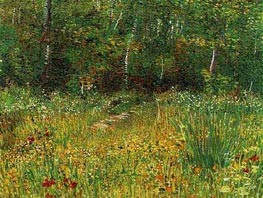 Vincent van Gogh | Park at Asnieres in Spring, 1887 | Giclée Canvas Print