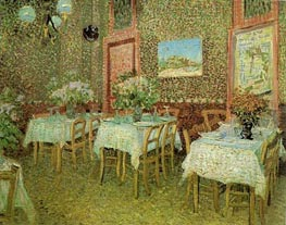 Vincent van Gogh | Interior of a Restaurant, 1887 | Giclée Canvas Print