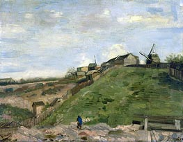 Vincent van Gogh | The Hill of Montmartre with Stone Quarry, 1886 | Giclée Canvas Print