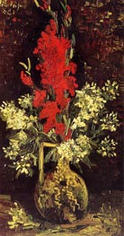 Vincent van Gogh | Vase with Gladioli and Carnations, 1886 | Giclée Canvas Print