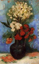 Vincent van Gogh | Vase with Carnations and Other Flowers, 1886 | Giclée Canvas Print