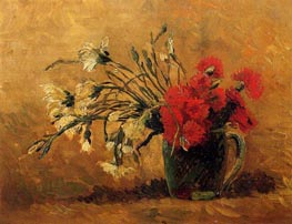 Vincent van Gogh | Vase with Red and White Carnations, 1886 | Giclée Canvas Print