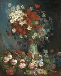 Vincent van Gogh | Poppies, Cornflowers, Peonies and Chrysanthemums | Giclée Canvas Print