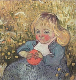 Vincent van Gogh | Child Sitting in the Grass with an Orange or a Ball | Giclée Canvas Print