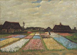 Vincent van Gogh | Flower Beds in Holland, c.1883 | Giclée Canvas Print