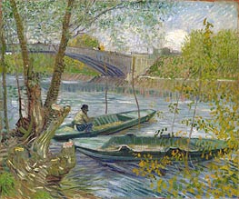 Vincent van Gogh | Fishing in Spring, the Pont de Clichy (Asnieres), 1887 | Giclée Canvas Print