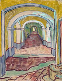 Vincent van Gogh | Corridor in the Asylum, 1889 | Giclée Canvas Print