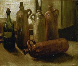 Vincent van Gogh | Still Life with Bottles, 1884 | Giclée Canvas Print