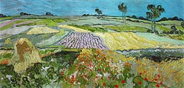 Vincent van Gogh | Fields near Auvers, 1890 | Giclée Canvas Print