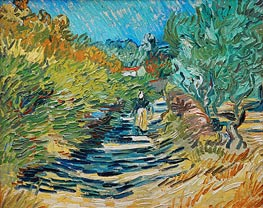 Vincent van Gogh | The Road to Saint-Remy, 1889 | Giclée Canvas Print