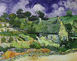Vincent van Gogh | Thatched Cottages at Cordeville | Giclée Canvas Print
