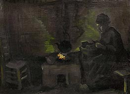 Vincent van Gogh | Peasant Woman by the Hearth | Giclée Canvas Print
