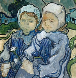 Vincent van Gogh | Two Little Girls, 1890 | Giclée Canvas Print