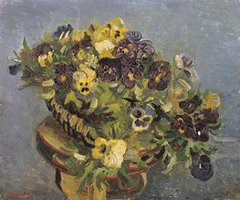 Vincent van Gogh | Basket of Pansies on a Small Table, 1887 | Giclée Canvas Print