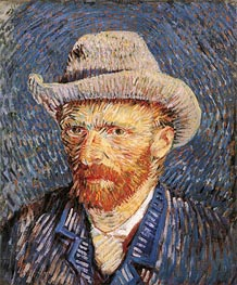 Vincent van Gogh | Self Portrait with Felt Hat | Giclée Canvas Print