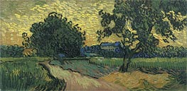 Vincent van Gogh | Landscape at Twilight | Giclée Canvas Print