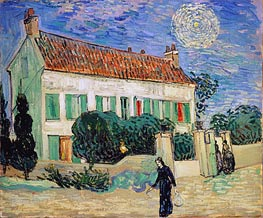 Vincent van Gogh | White House at Night, 1890 | Giclée Canvas Print