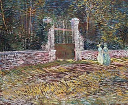 Vincent van Gogh | Entrance to the Voyer-d'Argenson Park at Asnieres, 1887 | Giclée Canvas Print