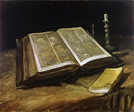 Vincent van Gogh | Still Life with Bible, 1885 | Giclée Canvas Print