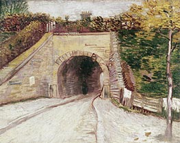 Vincent van Gogh | Roadway wtih Underpass (Tunnel through Hillside), 1887 | Giclée Canvas Print