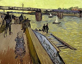 Vincent van Gogh | The Bridge Trinquetaille in Arles, 1888 | Giclée Canvas Print