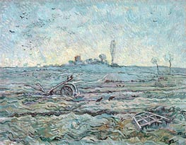 Vincent van Gogh | Snow-Covered Field with a Harrow | Giclée Canvas Print