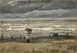 Vincent van Gogh | Scheveningen Beach in Stormy Weather | Giclée Canvas Print