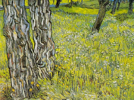 Pine Trees and Dandelions in the Garden, 1890 | Vincent van Gogh | Giclée Canvas Print