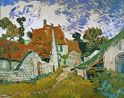 Village Street in Auvers, 1890 | Vincent van Gogh | Giclée Canvas Print