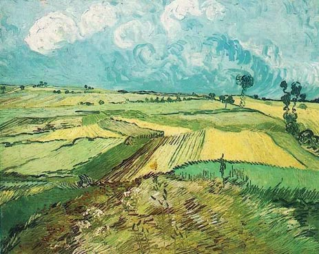 Wheat Fields at Auvers Under Clouded Sky, July 1890 | Vincent van Gogh | Giclée Canvas Print