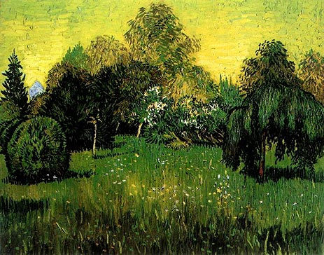 Public Park with Weeping Willow, 1888   Vincent van Gogh   Painting Reproduction