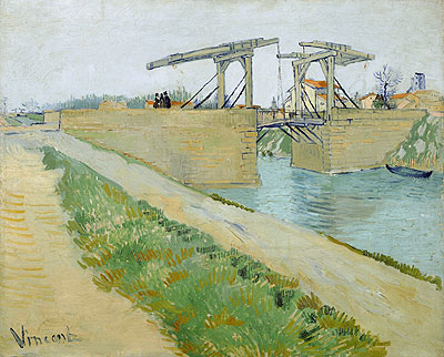 The Langlois Bridge at Arles with Road Alongside, 1888 | Vincent van Gogh | Painting Reproduction