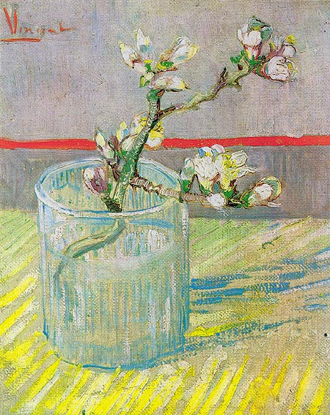 Blossoming Almond Branch in a Glass, 1888 | Vincent van Gogh | Giclée Canvas Print