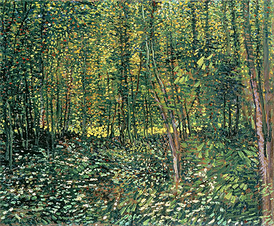 Trees and Undergrowth, 1887 | Vincent van Gogh | Painting Reproduction