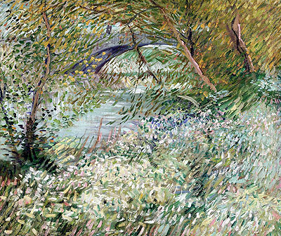 Banks of the Seine with Pont de Clichy in Spring, June 1887 | Vincent van Gogh | Giclée Canvas Print