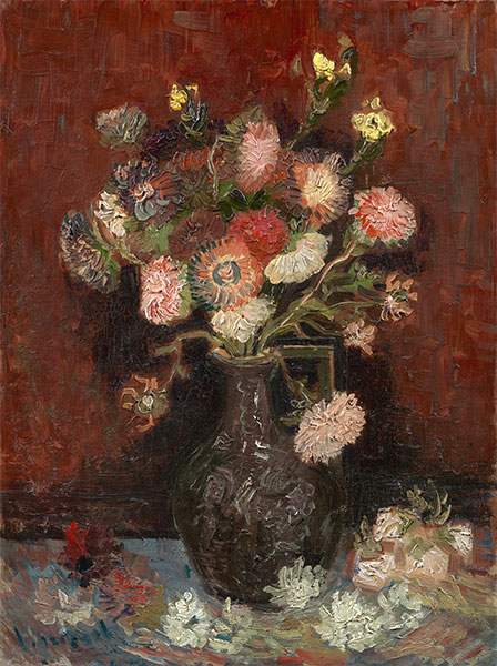 Vase with Asters and Phlox, 1886 | Vincent van Gogh | Giclée Canvas Print