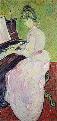 Marguerite Gachet at the Piano, 1890 | Vincent van Gogh | Giclée Canvas Print